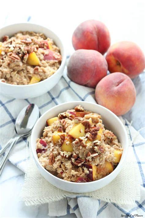 Peach Cobbler Oatmeal Easy Delicious Breakfast