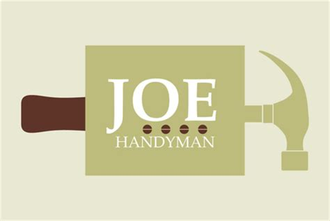 joe handyman maintenance logo template inkd