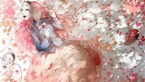 Anime Girls, Mask, Touhou, Closed Eyes, Cherry Blossom ...