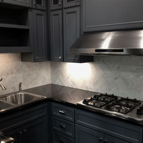 marble herringbone backsplash modernized kitchen marble backsplash kitchens pinterest