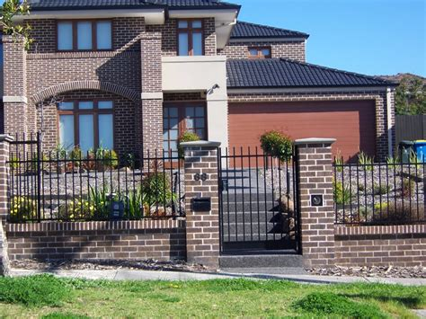 modern brick fence designs custom brick fences