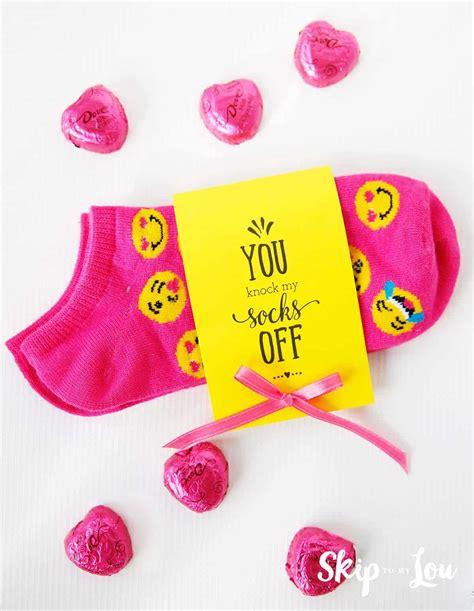 You Knock My Socks Off Valentine Printable