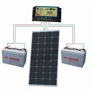 150w 12 Volt Dual Battery Solar Panel Charging Kit For Motorhome  Caravan  Boat 5060297341359