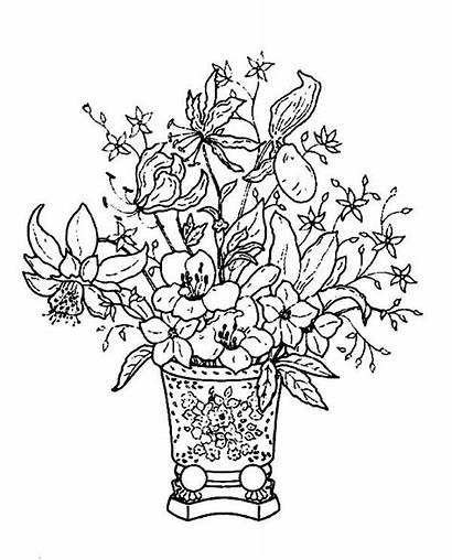 Coloring Pretty Flowers Pages Basket Classical Tocolor