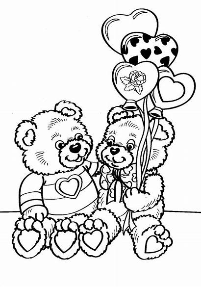 Coloring Pages Valentine Valentines Happy Adults Google