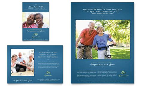 senior living community flyer ad template design