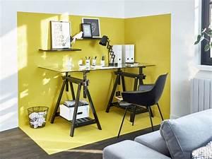 un bureau meme dans un petit espace dix solutions With salle de bain design avec décoration bureau professionnel moderne