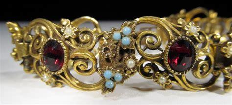 vintage jeray ornate link bracelet wc