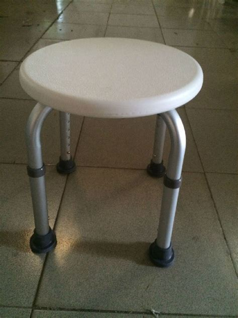 aluminum round bath stool shower chair with pe cushion for