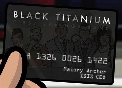 isis black titanium credit card archer wiki