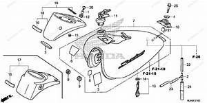 Honda Motorcycle 2014 Oem Parts Diagram For Fuel Tank