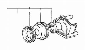 Toyota T100 Engine Cooling Fan Clutch Bracket  Component