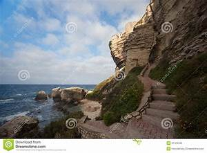 Bonifacio Path To Cliffs On The Shore, Corsica, France ...