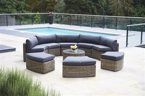 oak dining table 9 mayfair curved modular rattan garden furniture set