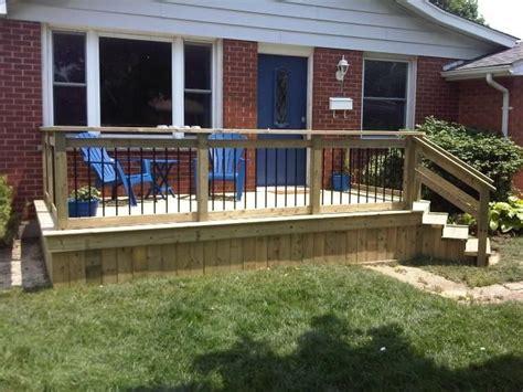 Front Porch Deck by Simple But Front Deck House Deco Stuff Porch