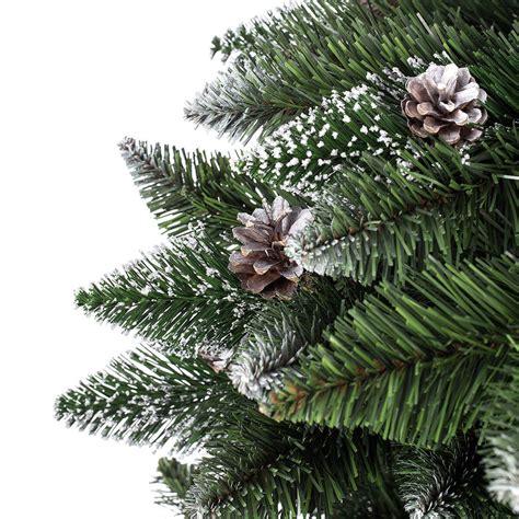 120cm k 252 nstlicher weihnachtsbaum kiefer mit schnee