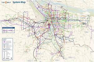 Portland Subway Map - ToursMaps.com