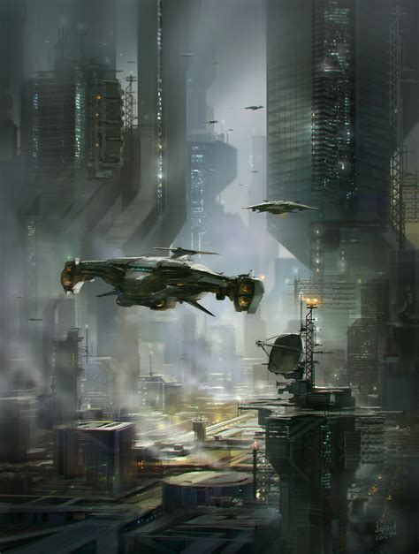 Scifi City By Alexichim On Deviantart