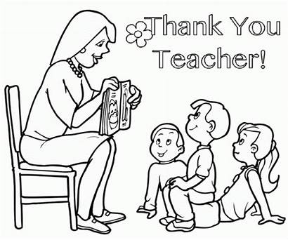 Teacher Coloring Thank Pages Appreciation Printable Sheet