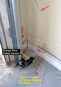 How To Repair Garage Door Safety Sensor Wires In 2019