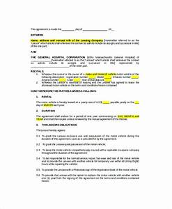 company vehicle use agreement template vehicle lease With documents 5 download online