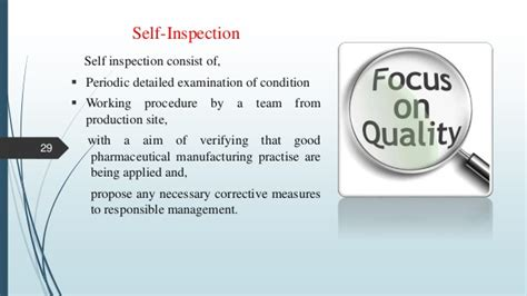Manufacturing Planning And Self Inspection In