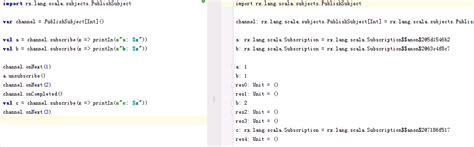scala rxscala behave differently in worksheet and after compile stack overflow