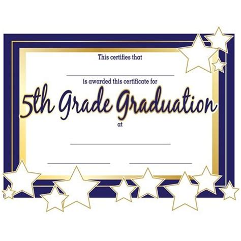 6th Grade Graduation Certificate Template 5th Grade Graduation Certificates 5th Grade Graduation