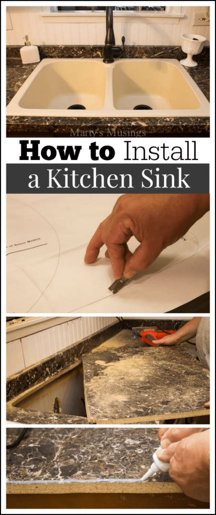 how to replace kitchen sink how to install a kitchen sink 7348