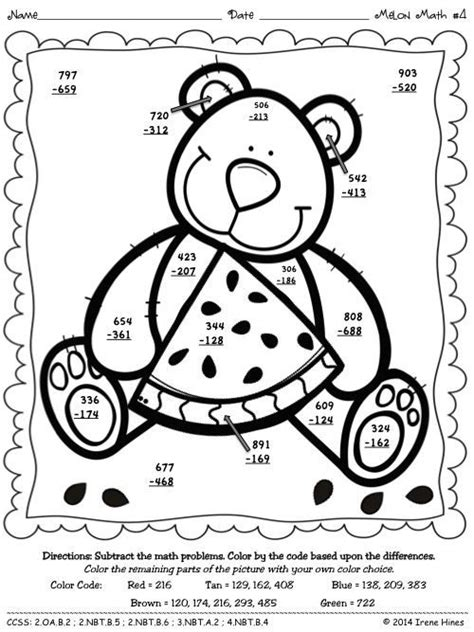 digit addition  regrouping coloring math
