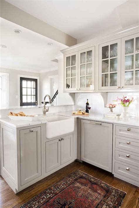 light gray kitchen cabinets transitional kitchen terracotta studio