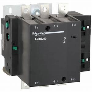 Contactor Schneider Electric Lc1e200m5 200a 380v Ac3 220v
