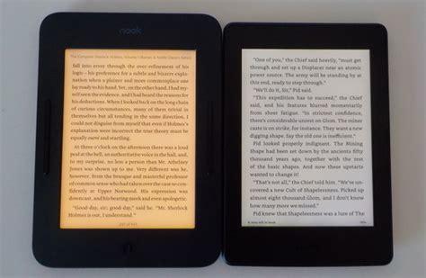 barnes and noble kindle nook glowlight 3 vs kindle paperwhite 3 comparison