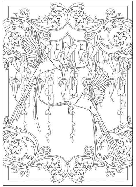Jugendstil Kleurplaat by Creative Nouveau Designs Collection Coloring