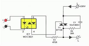 diy solid state relay ave circuits With led 1 connected to pin 2 led 2 to pin 3 led 3 to pin 4 the r1 r2 r3