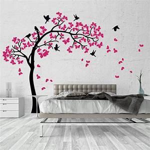 01381 Wall Stickers Adesivi Murali parete decoro muro piante Alberi 170x170 cm • EUR 31,92