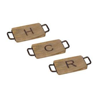 wood  iron monogram cheese boards  kirklands wood kirklands cheese board
