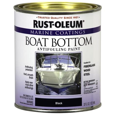 Rustoleum Boat Bottom Antifouling Paint Reviews shop rust oleum boat bottom antifouling quart size