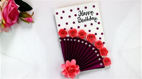 easy beautiful handmade birthday cardsbirthday card idea