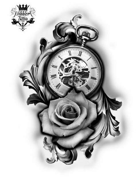 Pin by 伯爵 on tattoo | Clock tattoo design, Clock tattoo