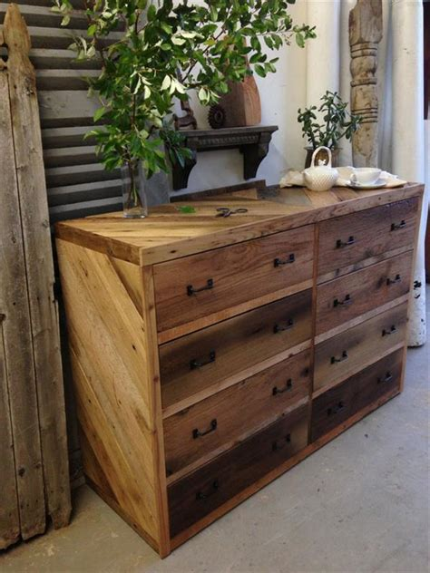 diy wood pallet dresser plans pallets designs