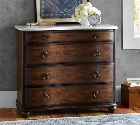 C Dresser Pottery Barn by Sansome Marble Top Dresser Pottery Barn