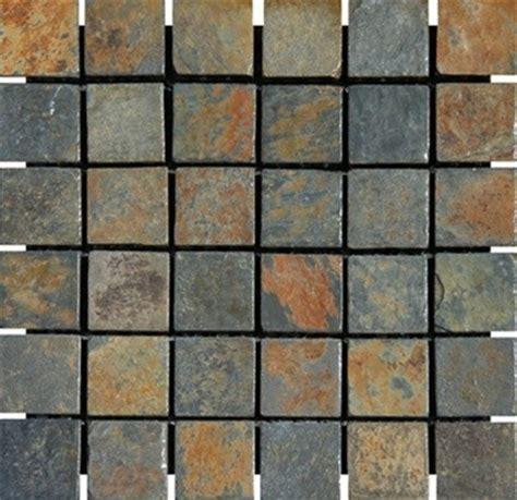 tumbled slate tile china multi color tumbled slate mosaic tiles 2 quot x 2 quot modern floor tiles