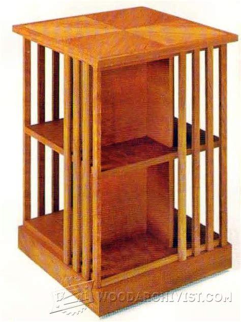 rotating bookshelf plans woodarchivist