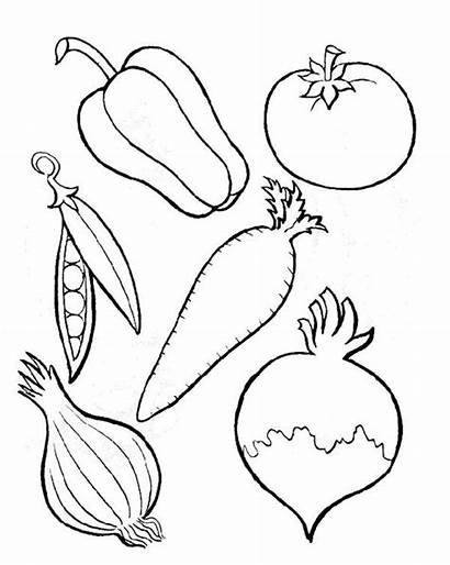 Coloring Vegetables Fruits Pages Printable Kinds Getcolorings
