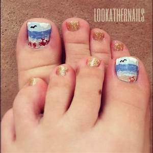 Cute Beach Toe Nail Designs on 30 Amazing Cute Toe Nail ...