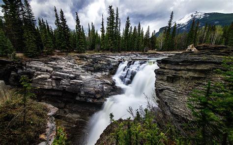 Mountain Waterfall Landscape Hd Wallpaper