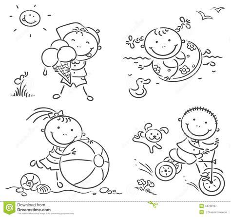summer kids activities outdoors stock vector image