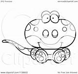 Lizard Gecko Cute Cartoon Clipart Coloring Outlined Sitting Vector Cory Thoman 2021 Copyright sketch template