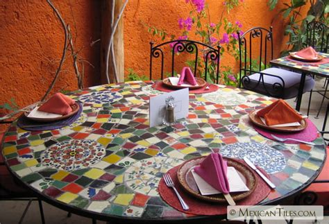 mexicantiles table top mosaic work with broken
